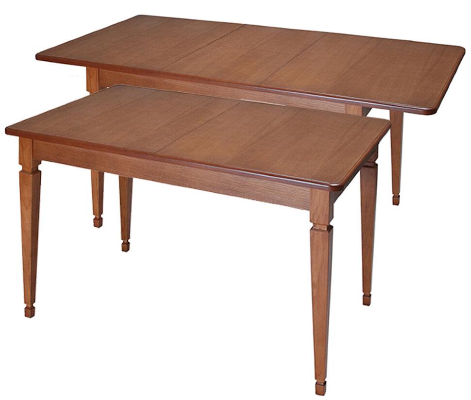 """Стол """"Азалия П"""" Размер (ШхДхВ): 80х120(160)х75 см. Массив бука. 40 вариантов тонировки. Срок изготовления 15 раб. дней."""