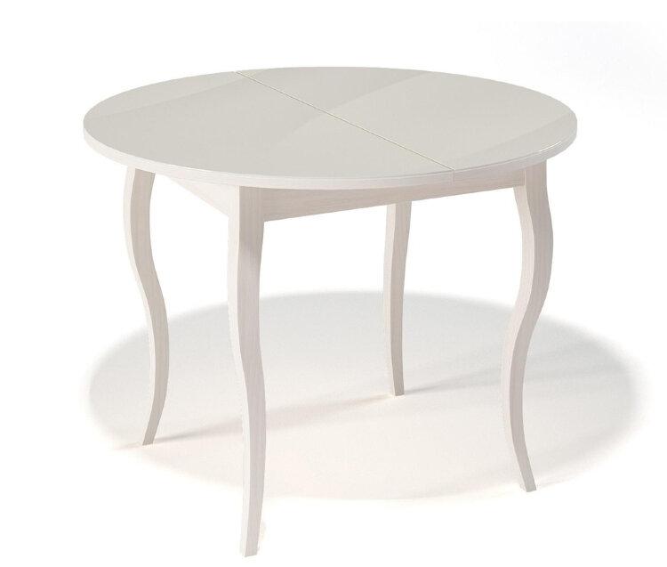 Стол Kenner 1000С Крем / стекло Крем глянец