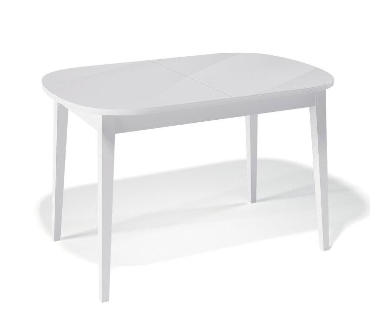 Стол Kenner 1300M Белый / стекло Белое глянец