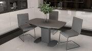 Стол «Портофино со стеклом» (серый)