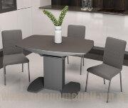 """Стол """"Портофино со стеклом"""" (серый), 75х110"""