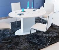 Стол со стеклом «Марсель» (Белый/Стекло белое глянец)