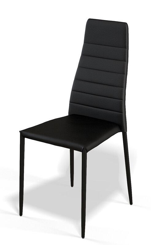 Стул Kenner 107S черный Размер (ШхГхВ): 43х42х94 см. Стиль:  Современный / Хай-тек  Особенности: Хромированный каркас; Мягкое сиденье; Мягкая спинка;  Цвет: Черный; Фабрика: «Kenner»