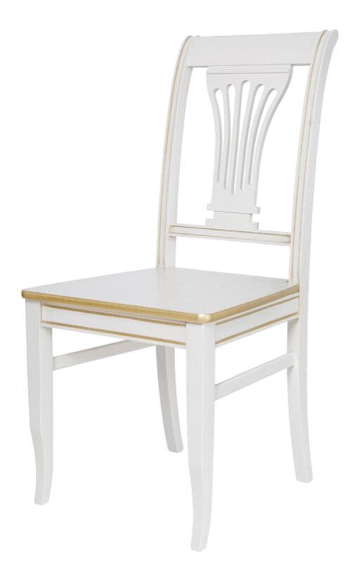 Стул «Аллегро»  (жесткое сиденье) Размер (ШхГхВ):47х45х97 см. Особенности:  Из массива;  С жестким сиденьем; С жесткой спинкой; Резные элементы;  40 цветов дерева;  Стиль: Классический Фабрика «Квинта-Мебель»