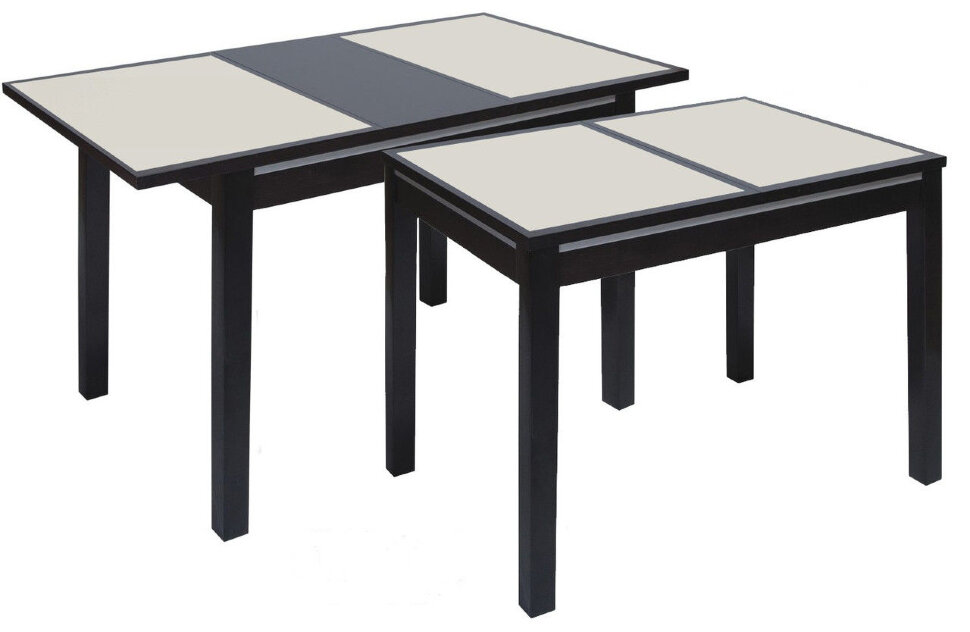 """Стол """"Жасмин 950х680 с камнем"""" Размер (ШхДхВ): 68х95(125)х75 см. Стиль:  Классический / Модерн  Форма столешницы: Прямоугольная Особенности: С камнем,На 4-х ножках;Из массива; Фабрика """"ТехКомПро"""" (г.Тула)"""