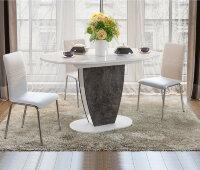 Стол «Монреаль» Тип 1 (Белый глянец/Моод темный)