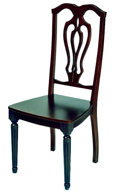 """Стул """"Лира-К""""  (жесткое сиденье) Размер (ШхГхВ):47х47х104 см. Особенности: Жесткое сиденье,Резная спинка,Круглые ножки, Резные элементыИз массива Стиль: Классический Цвета: 40 вариантов тонировки Срок изготовления: 15 раб. дней"""