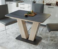 Стол «Чинзано» Тип 1 (Дуб сонома / Стекло серое матовое)