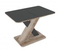 Стол «Люксембург» Тип 1 (Дуб Делано/Стекло серое матовое)