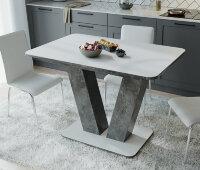 Стол «Чинзано» Тип 1 (Моод темный / стекло Белое матовое)