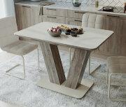 Стол «Чинзано» Тип 1 (Дуб сонома / стекло Бежевое матовое)