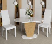 Стол «Монреаль» Тип 1 (Белый глянец/Бунратти)