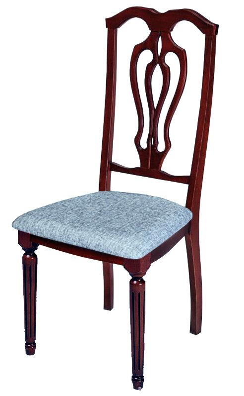 """Стул """"Лира-К"""" Размер (ШхГхВ):47х47х104 см. Особенности: Мягкое сиденье,Резная спинка,Круглая ножка, Резные элементыИз массива Стиль: Классический Цвета: 40 вариантов тонировки Срок изготовления: 15 раб. дней"""