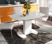 Стол «Портофино со стеклом» (белый) 80х130 см.