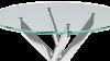 Стол «Dikline R90» (Стекло прозрачное / ножки Хром) - Стол «Dikline R90» (Стекло прозрачное / ножки Хром)