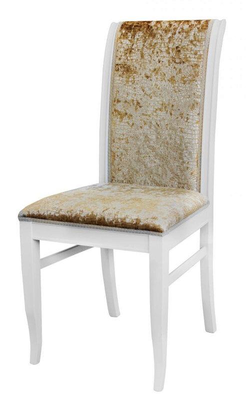Стул «Аллегро-2» Размер (ШхГхВ):47х45х97 см. Особенности:  Из массива;  С мягким сиденьем; С мягкой спинкой; Резные элементы;  40 цветов дерева: 100 вариантов тканей;  Стиль: Классический Фабрика «Квинта-Мебель»